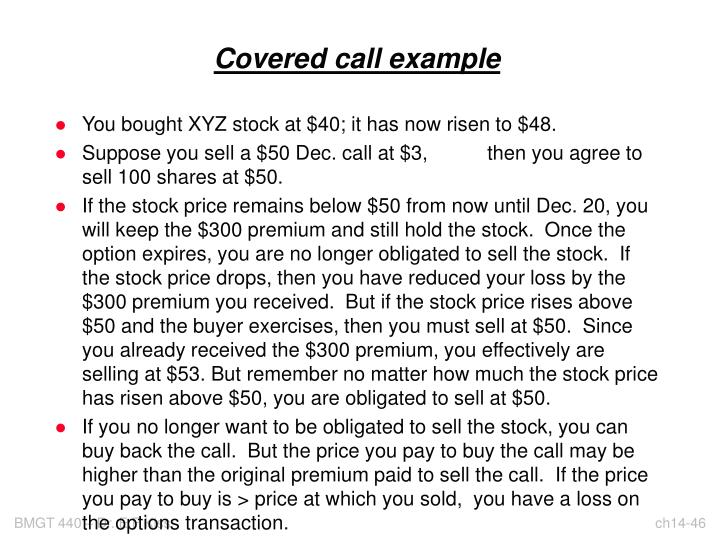 Covered call example