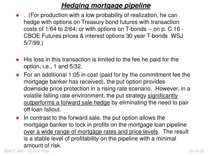 Hedging mortgage pipeline