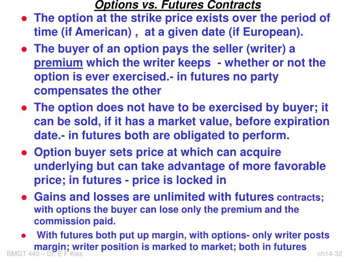 Options vs. Futures Contracts