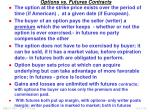 options vs futures contracts