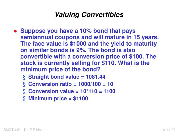 Valuing Convertibles
