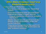 epa s water protection task force research needs con t