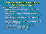 epa s water protection task force research needs con t19
