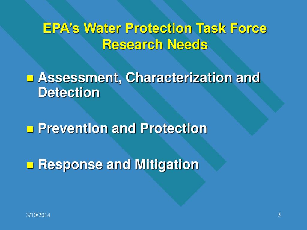 EPA's Water Protection Task Force