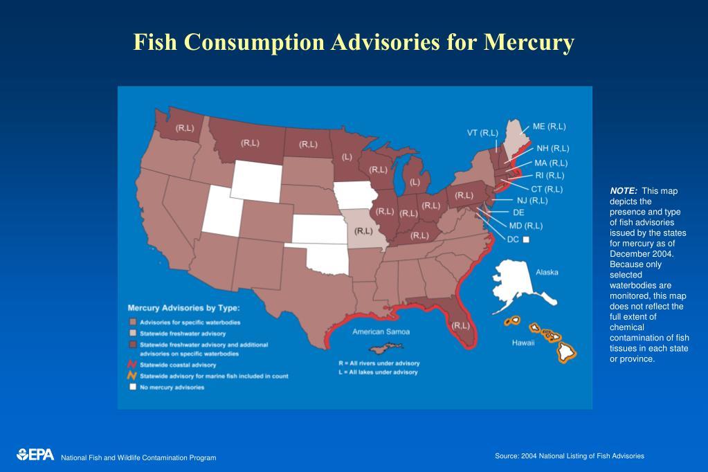 Fish Consumption Advisories for Mercury