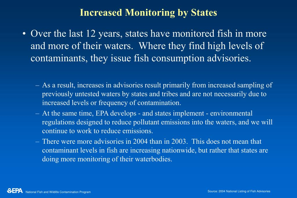 increased monitoring by states l.