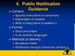 4 public notification guidance