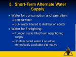 5 short term alternate water supply