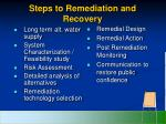 steps to remediation and recovery