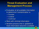 threat evaluation and management process