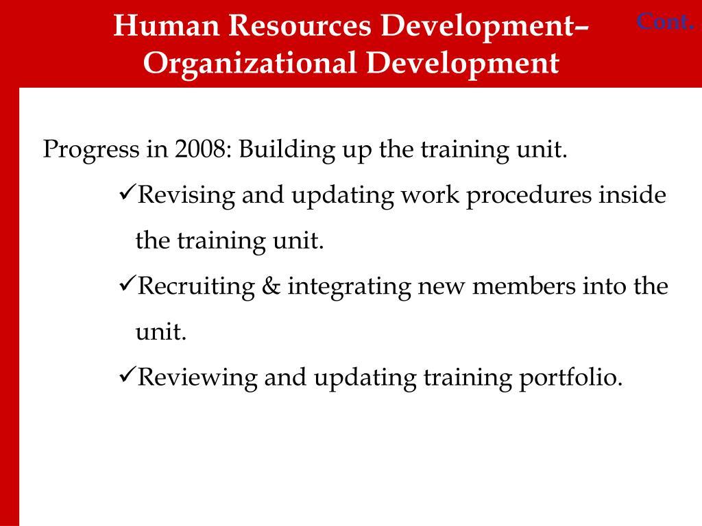human resources and organization development