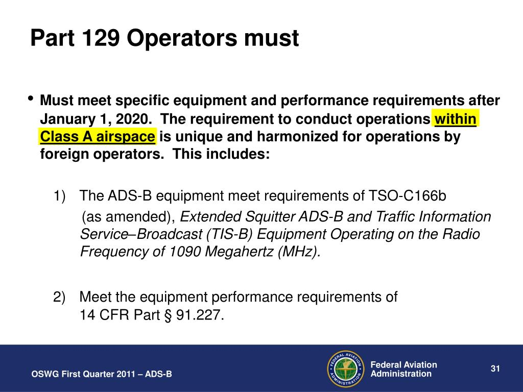 PPT - ADS-B Operational Approvals (now and in the future