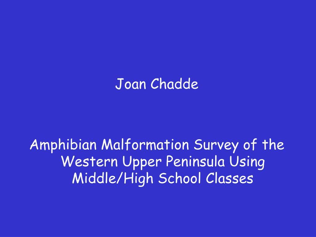 Joan Chadde