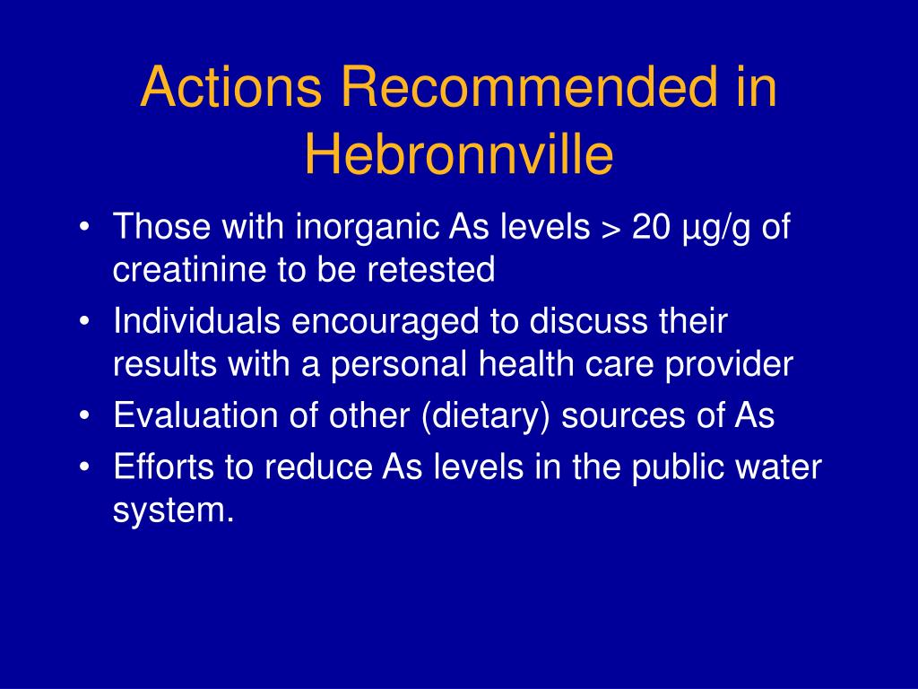 Actions Recommended in Hebronnville