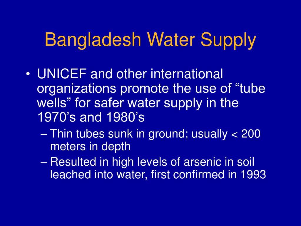 Bangladesh Water Supply