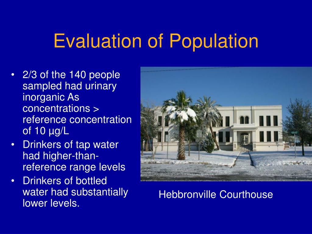 Evaluation of Population