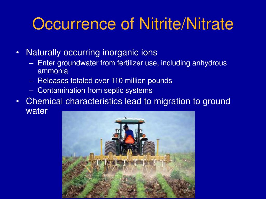 Occurrence of Nitrite/Nitrate