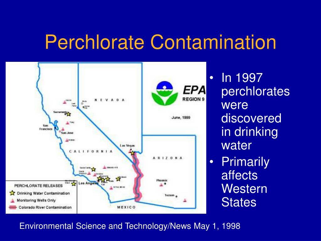 Perchlorate Contamination