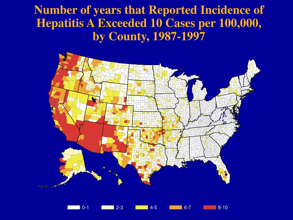 Number of years that Reported Incidence of
