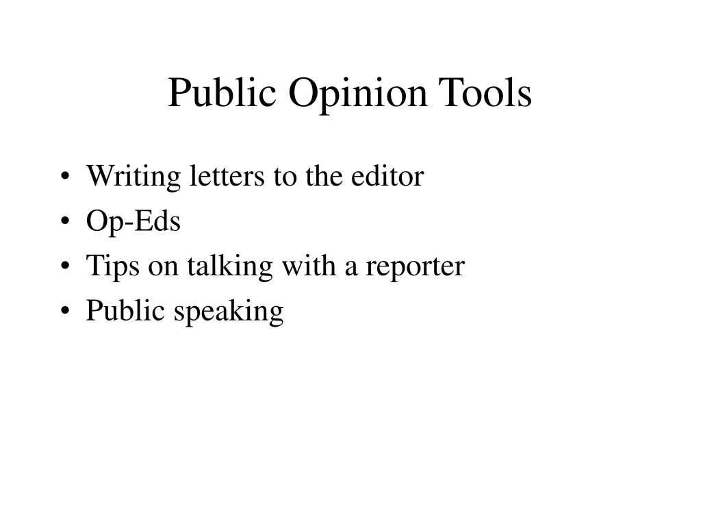 Public Opinion Tools