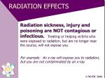 radiation effects23
