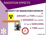 radiation effects25
