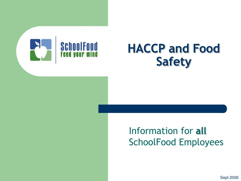 haccp and food safety l.