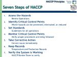 seven steps of haccp
