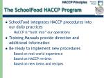 the schoolfood haccp program