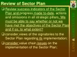 review of sector plan