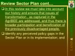 review sector plan cont