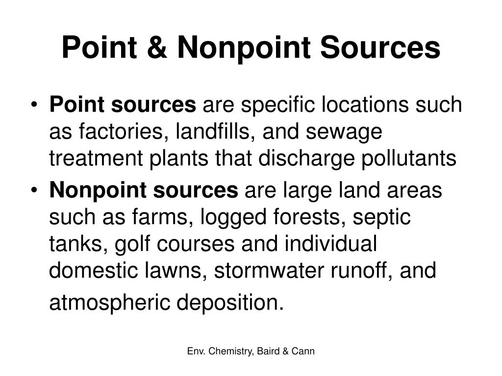 Point & Nonpoint Sources