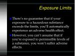 exposure limits42