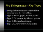 fire extinguishers fire types