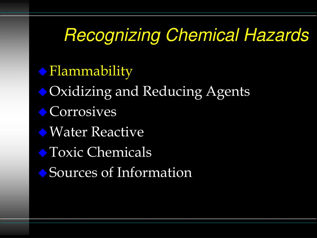 recognizing chemical hazards l.