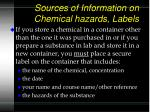 sources of information on chemical hazards labels58