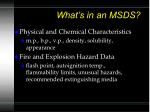 what s in an msds61