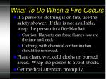 what to do when a fire occurs18