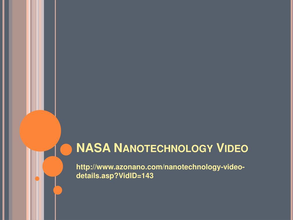 NASA Nanotechnology Video