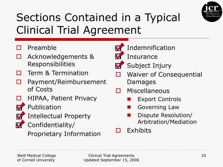 Ppt Clinical Trial Agreements Powerpoint Presentation Id609643