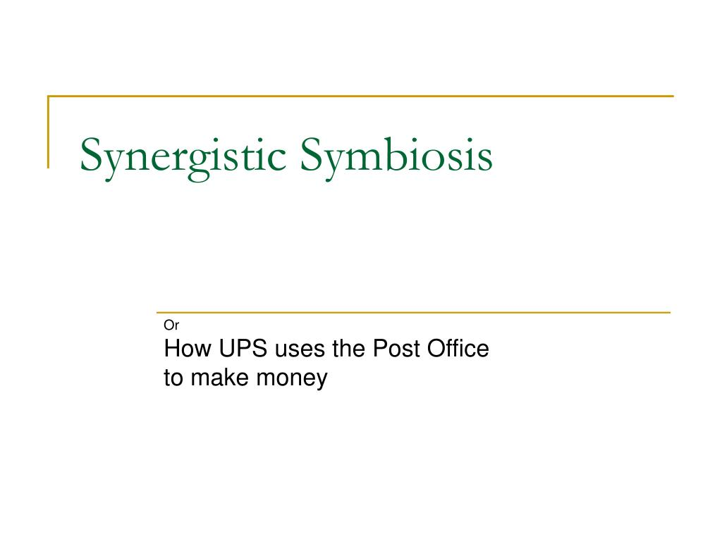 synergistic symbiosis l.