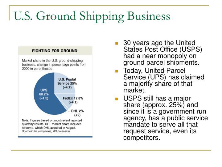 U s ground shipping business