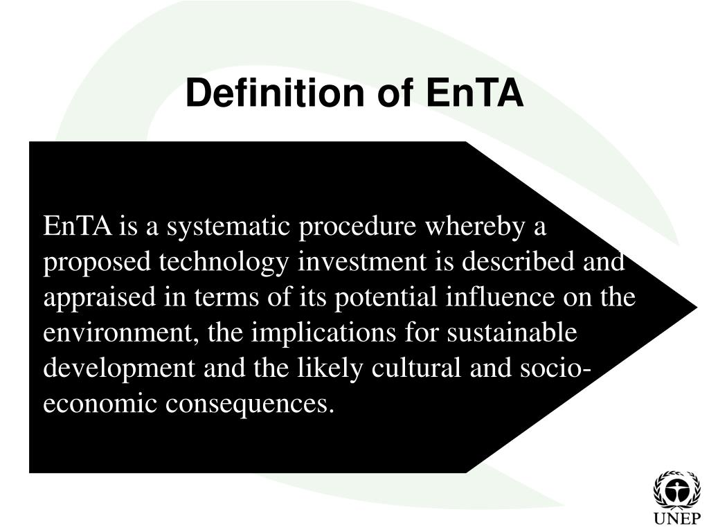 EnTA is a systematic procedure whereby a