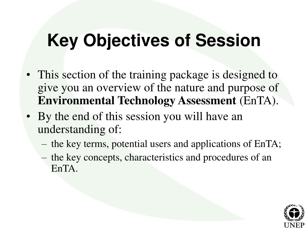Key Objectives of Session