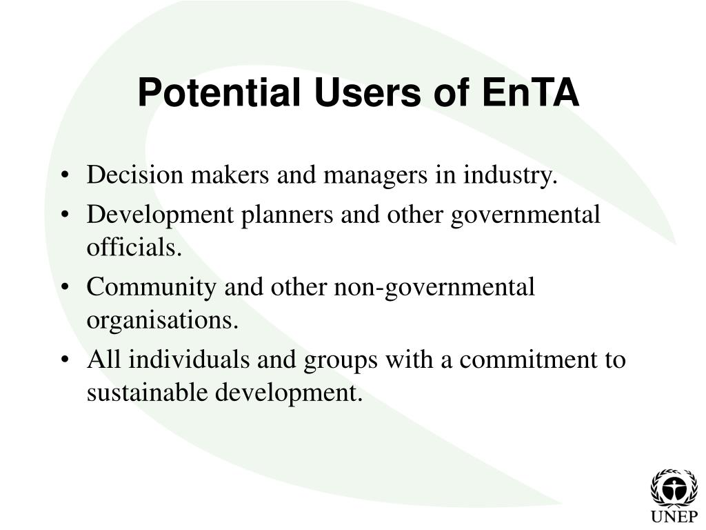 Potential Users of EnTA
