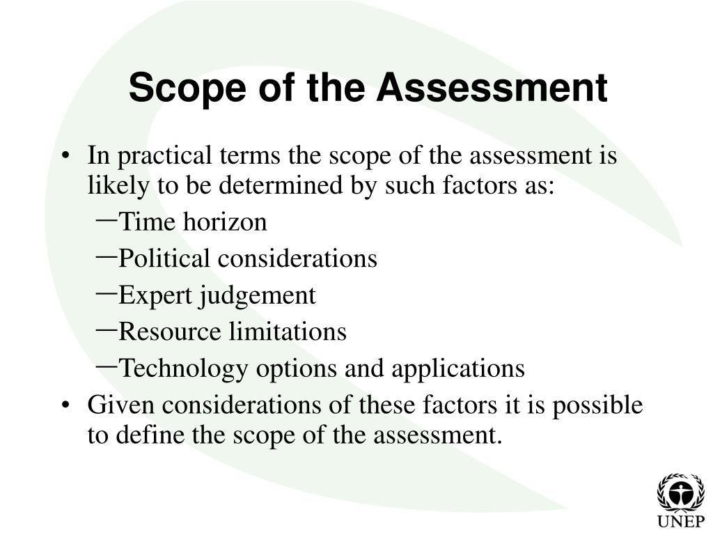 Scope of the Assessment