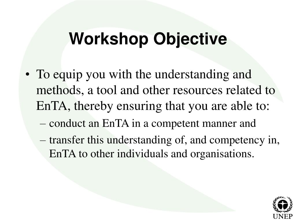 Workshop Objective