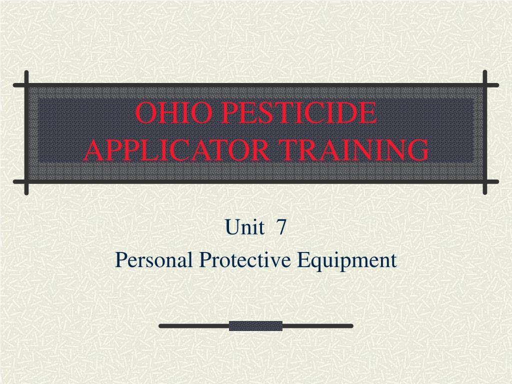 Ppt ohio pesticide applicator training powerpoint presentation ohio pesticide applicator training l 1betcityfo Gallery