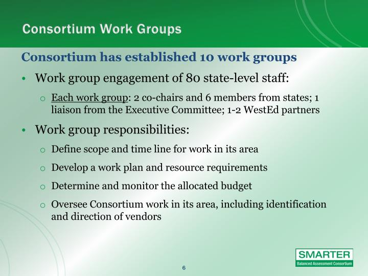Consortium Work Groups