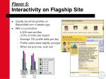 interactivity on flagship site